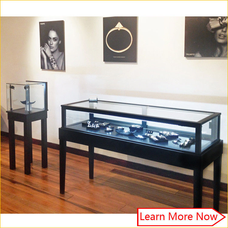Luxury mdf metal black paint jewelry retail supplies/jewelry store fixtures displays आपूर्तिकर्ता