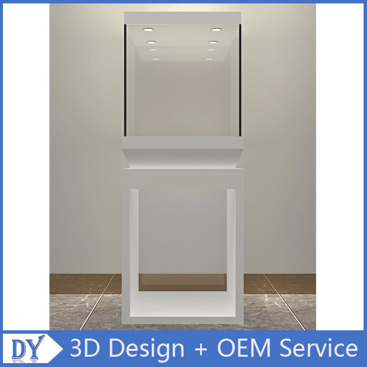 Manufacturer wholesale custom made white color glass display cases for museums आपूर्तिकर्ता